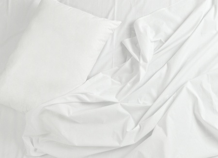 close up of bedding sheets and pillow Stock Photo - 10808728