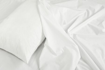 close up of bedding sheets and pillow Stock Photo - 10808781