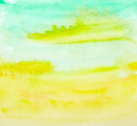 watercolour paintbrush: close up of  water color strokes painting on white background