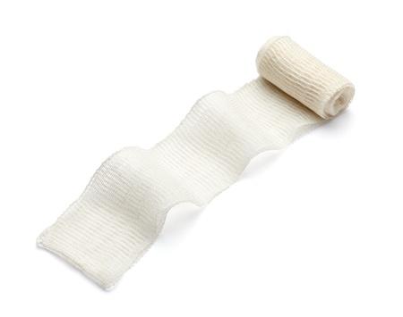 white bandage: close up of bandage on white background with clipping path