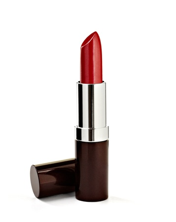 lipsticks: close up of a lipstick on white background with clipping path