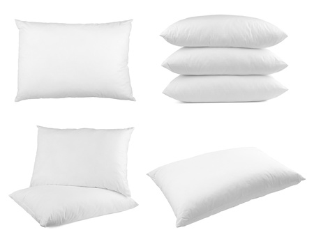 collection of  pillows on white background. each one is shot separately Stock Photo - 10885272