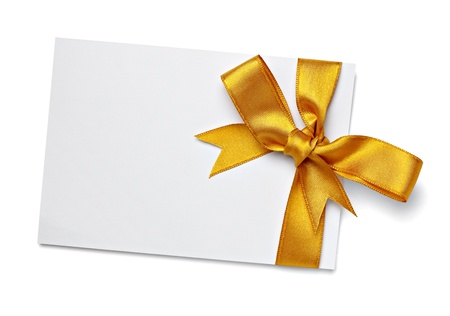 silk ribbon: close up of  card note with  ribbon