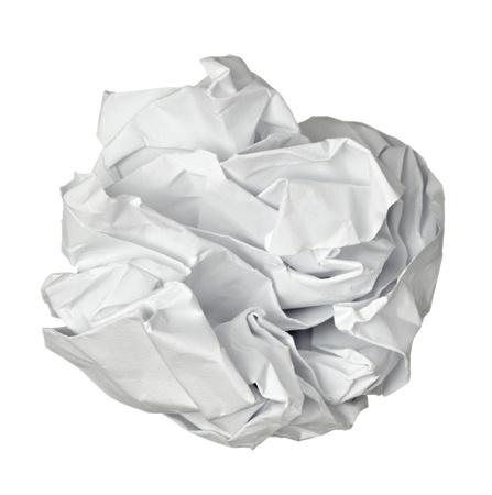 close up of a paper ball  photo