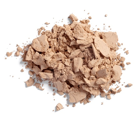 close up of  a make up powder on white background Stock Photo - 11007216