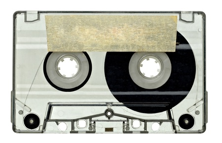 close up of vintage audio tape on white background with clipping path Stock Photo - 11163869