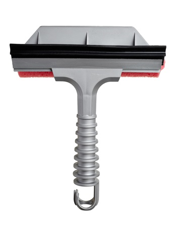 close up of  wndshield cleaning tool on on white background with clipping path photo