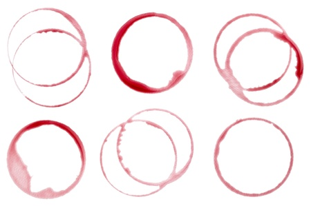 collection of  various wine stains on  white background. each one is shot separately Stock Photo - 11163818