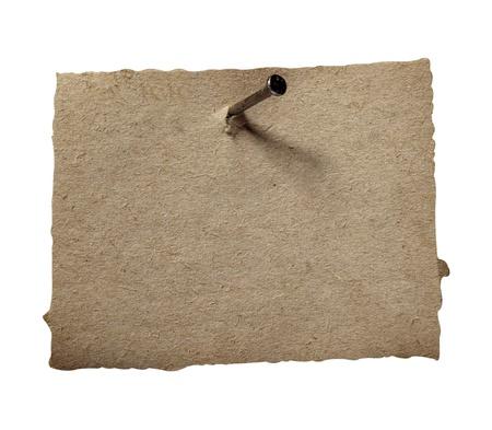 speld: close-up van grunge notitie papier op een witte achtergrond