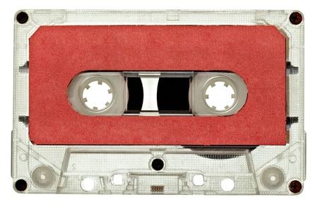 audio cassette: close up of vintage audio tape