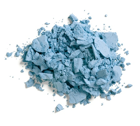 powder: close up of  a make up powder on white background