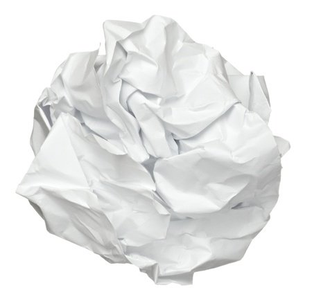 close up of a paper ball