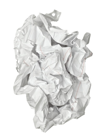 recycling paper: close up of a paper ball