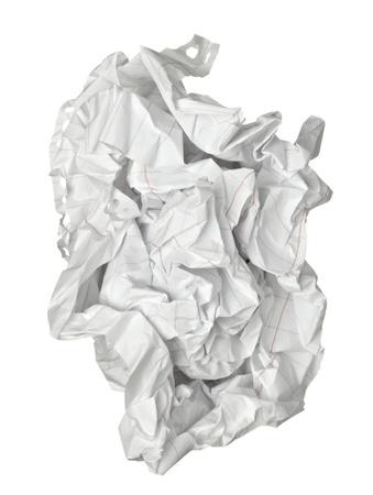 Nahaufnahme von einem Papier-Kugel Standard-Bild