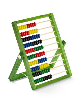 close up of  an abacus on white background  Stock Photo - 11554735