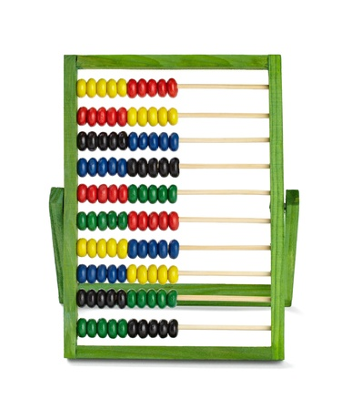 numbers counting: close up of  an abacus