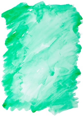 close up of  water color strokes painting on white background Stock Photo - 11555099