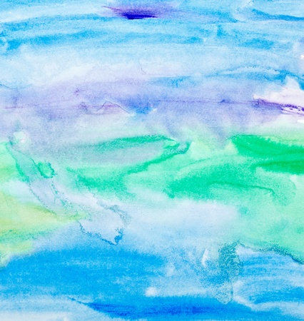 color tone: close up of  water color strokes painting on white background