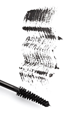 close up of black mascara on white background Stock Photo - 11640776