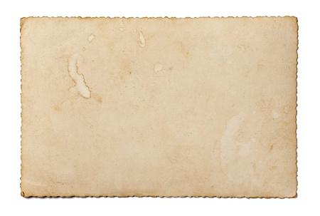 bordure vieille photo: pr�s d'une vieille photo sur fond blanc avec chemin de d�tourage Banque d'images