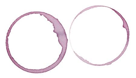corcho: cerca de una mancha de vino sobre un fondo blanco con saturación camino