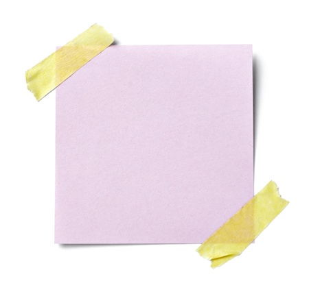 cardboard cutout: close up of  a white note paper on white background  with clipping path