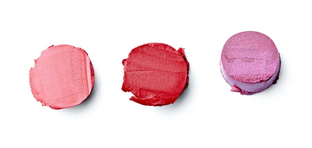 close up of  a smudged lipstick on white background Stock Photo - 12650138