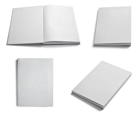 note book: raccolta di vari bianco carta bianca su sfondo bianco. ognuno � girato separatamente Archivio Fotografico