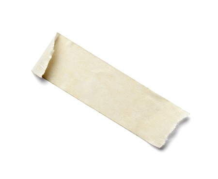 stripping: close up of  an adhesive tape on  white background with clipping path Stock Photo