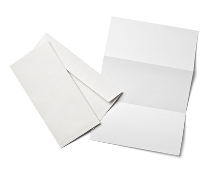 letter head: collection of various  blank white paper on white background with clipping path