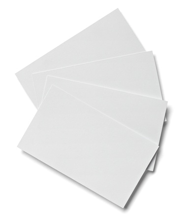 collection of various  blank white paper on white background with clipping path photo