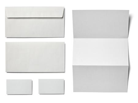 koperty: zbiór różnych czystym papierze białym na białym tle. każdy jeden zostaje zastrzelony oddzielnie