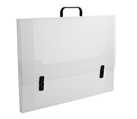 close up of  a plastic case on white background with clipping path photo