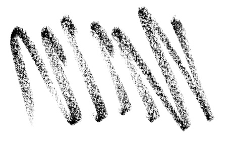 paint strokes: close up of a pencil stroke on white background Stock Photo