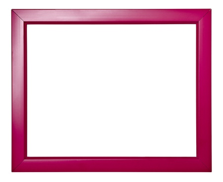 rectangular: wooden frame for painting or picture on white background with clipping path