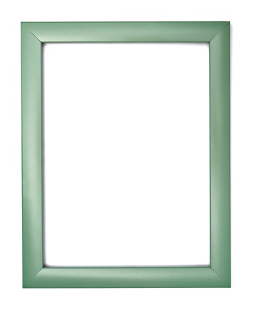 picture frame on wall: wooden frame for painting or picture on white background with clipping path