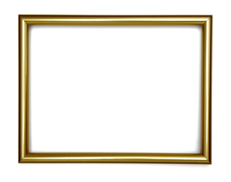 baroque picture frame: wooden frame for painting or picture on white background with clipping path