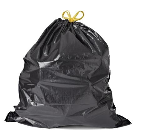reciclar basura: cerca de una bolsa de basura Foto de archivo