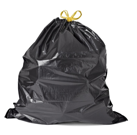 household waste: close up of a garbage bag