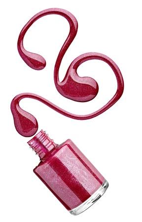 close up of nail polish drop   photo