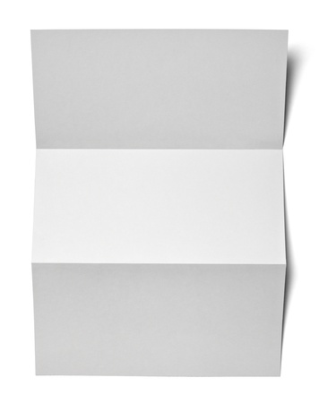 fold: collection of various  blank white paper  Stock Photo