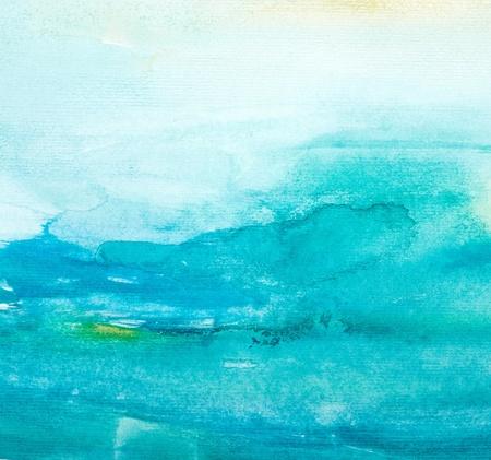 Close up de color del agua trazos de pintura sobre fondo blanco