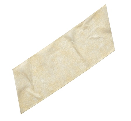 close up of  an adhesive tape on  white background photo