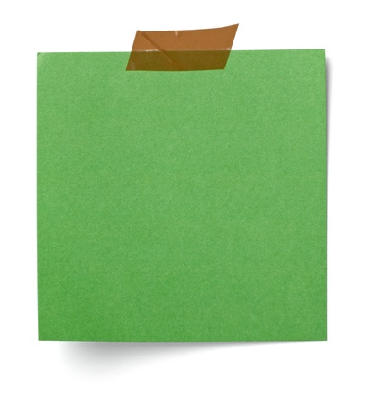 noticeboard: close up of  a white note paper on white background