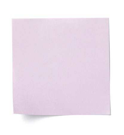 close up of  a white note paper on white background   Stock Photo - 13675461