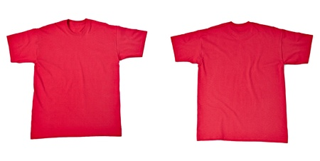 collection of  various t shirts on white background  each one is shot separately Stock Photo - 13751686
