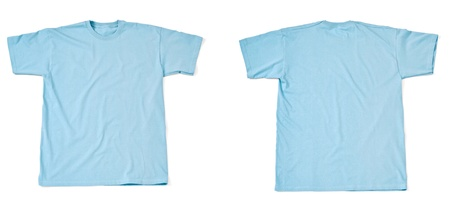 collection of  various t shirts on white background  each one is shot separately Stock Photo - 13751475