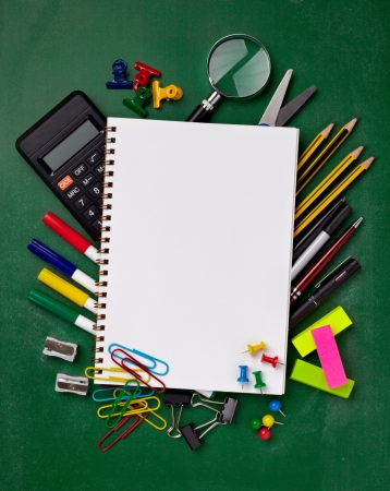 close up of various school items photo