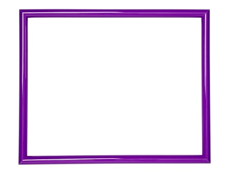 photo edges: wooden frame for painting or picture on white background