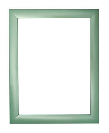 wooden frame for painting or picture on white background  photo